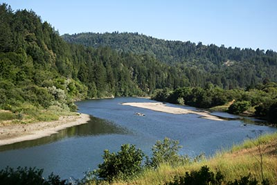 The Russian River in Sonoma County, California