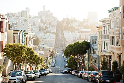A street scene in San Francisco