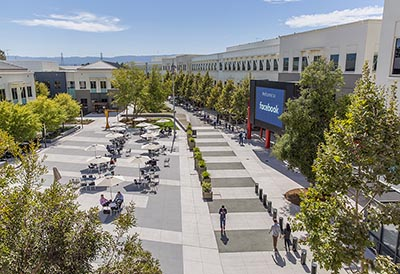 Facebook headquarter in Menlo Park, California